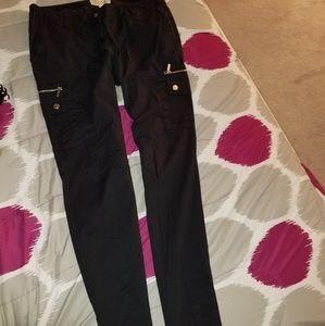 Cargo black Michael Kors Pants size 6